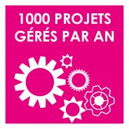 1000 projets par an