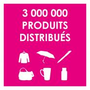 3 000 000 de produits distribués