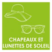 Chapeaux et lunettes de soleil
